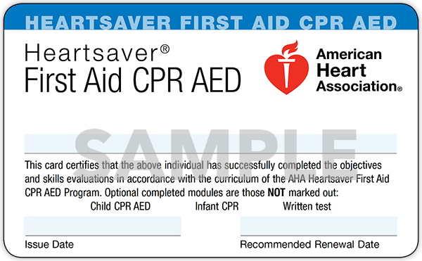 CPR / AED / First Aid Training and Certification
